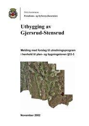 Utbygging av GMersrud Stensrud - Plan