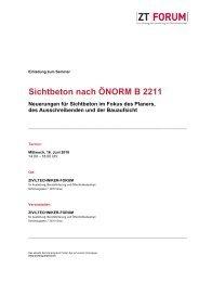 Sichtbeton nach ÖNORM B 2211