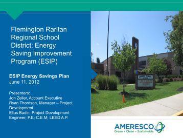 Energy Savings Improvement Plan - Flemington-Raritan Regional ...