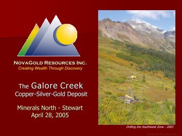 The Galore Creek - Minerals North