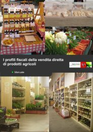 I profili fiscali della vendita diretta di prodotti agricoli - Arsia