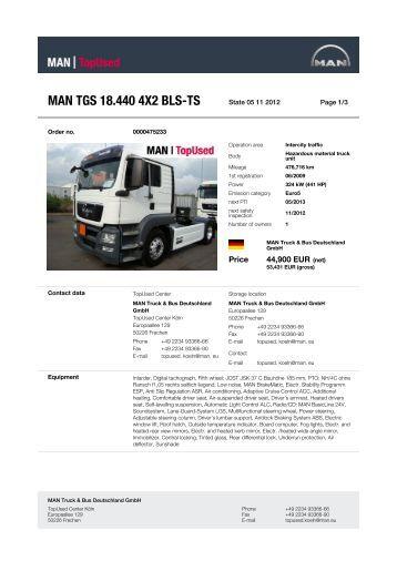 MAN TGS 18.440 4X2 BLS-TS - MAN TopUsed