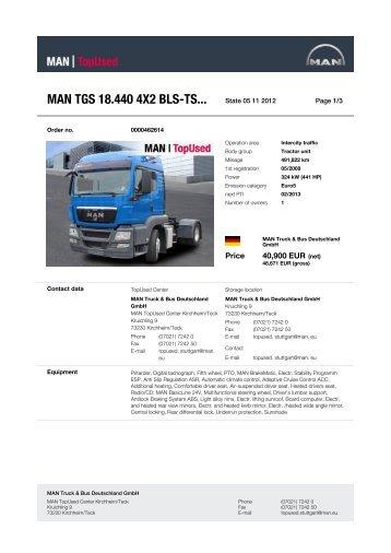 MAN TGS 18.440 4X2 BLS-TS... - MAN TopUsed