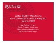 Water Quality Monitoring Environmental Stewards Program Spring ...