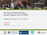 Fire Impact & Risk Evaluation – Decision Support Tool (FireDST ...