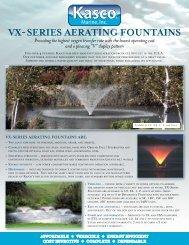 Kasco VX - Series Aerating Pond Fountains - Pondliner.com