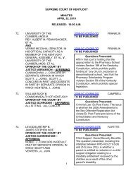 supreme court of kentucky minutes april 22, 2010 released: 10:00 ...