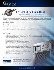 UNIVERSITY PROGRAM - Chroma Systems Solutions