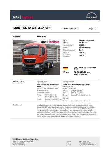 MAN TGS 18.400 4X2 BLS - MAN TopUsed