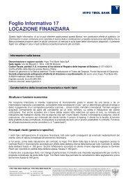 Foglio Informativo 17 LOCAZIONE FINANZIARA - Hypo Tirol Bank AG