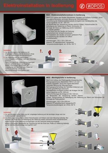 Elektroinstallation in Isolierung