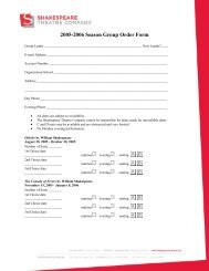 2005-2006 Season Group Order Form - The Shakespeare Theatre ...