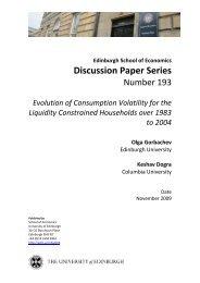 Evolution of Consumption Volatility for the Liquidity ... - Economics