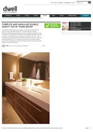 complex and angular double vanity top in