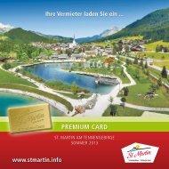 Premium Card Folder - Urlaub in St. Martin am Tennengebirge