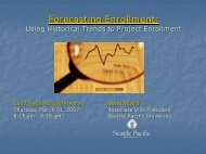Forecasting Enrollment to Achieve Institutional Goals - AACRAO