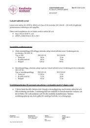 Lokalt kollektivavtal - Internwebben - Karolinska Institutet