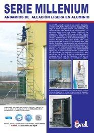 Ficha técnica andamio de aluminio Millenium - Logismarket