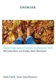 Herbst-Vitalprogramm Oktober bis Dezember 2012 Mercedes-Benz ...