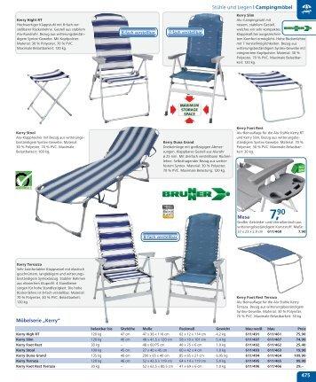 Stühle und Liegen | Campingmöbel 475