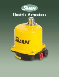 Electric Actuators - Sharpe® Valves