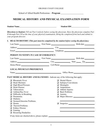 history and physical examination essay Free essay: history and physical examination or emergency  department treatment record patient name: putul barua.