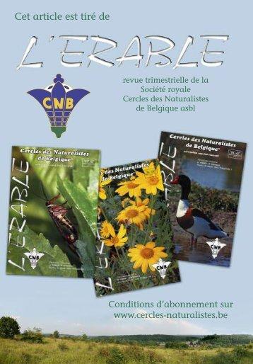 H2O - Cercles des Naturalistes de Belgique