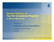 Top Ten Compliance Programs to Drive Revenue Top Ten ...