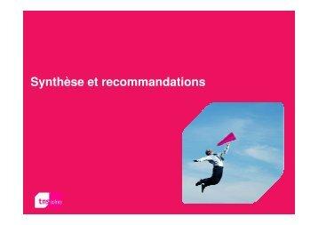 Synthèse et recommandations