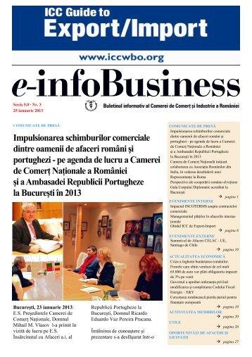 e-infoBusiness nr. 3/25.01.2013 - Camera de Comert si Industrie a ...