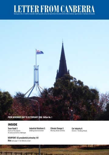 LETTER FROM CANBERRA - Letter from Melbourne