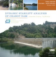 Dynamic Stability Analysis of Chabot Dam, Vol. I - East Bay ...
