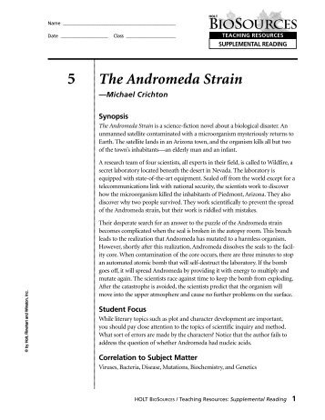 persuasive essay andromeda strain The andromeda strain: essay topics - book report ideas / study questions by michael crichton cliff notes™ the andromeda strain: study guide / book summary.