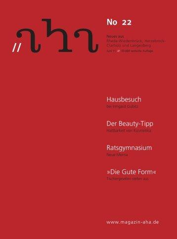 No 22 - aha-Magazin