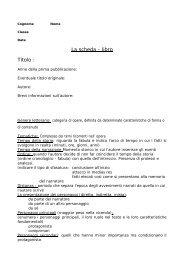 Scheda libro documento PDF