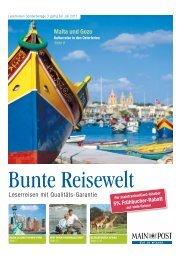 Bunte Reisewelt - Main-Post