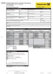 Einlieferungsliste Infobrief/Katalog - Deutsche Post