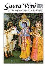Gaura Vání listopad 2012 - Sri Sri Radha Govinda Mandir