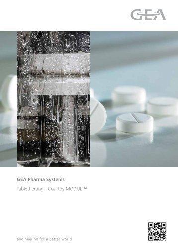 GEA Pharma Systems Tablettierung - Courtoy Modul™