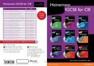 Heinemann IGCSE for CIE - Pearson Global Schools