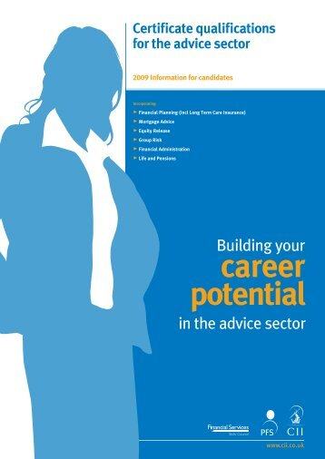 Building Your Career Potential - The Personal Finance Society
