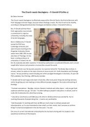 Fr Gerald O'Collins sj - Broken Bay Institute
