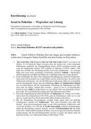 Kurzfassung Israel in Palästina - Netzwerk Schweiz für einen ...