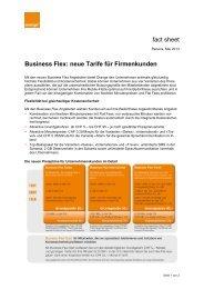 Factsheet Business Flex. - Orange