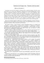 Szerbia és az Európai Unió – Távlatok a 2010-es évben 65 ... - Grotius
