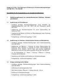 Anlage zu § 2 Abs. 3 der Satzung zur Erhebung von ...