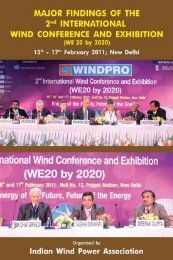Conference Organising Committee - Indian Wind Power Association