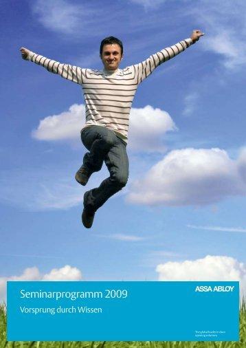 Seminarprogramm 2009 - Assa Abloy