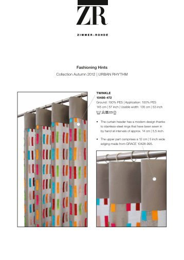 Fashioning hints | Collection URBAN RHYTHM - Zimmer + Rohde