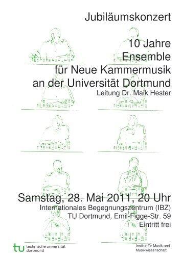 Programm zum Jubiläumskonzert 10 Jahre ENKUD - Dr. Maik Hester